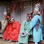 みちのく公園の新春まつり。神明神楽保存会による獅子舞