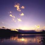 写真コンテスト入賞作品 作品名「釜房湖の夕焼け」