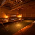 青根温泉・不忘閣の「大湯」。この温泉に浸かるためだけに青根を訪ねる旅人もいる