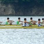 釜房ダムでは隔年で、東北大学と北海道大学の「漕艇部定期戦」が行われ、熱戦が繰り広げられる