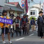 大崎市・政宗公まつりの武者行列に参加した「支倉常長隊」